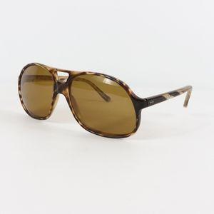 Vtg 70s Tortoise Shell Aviator Sunglasses Brown